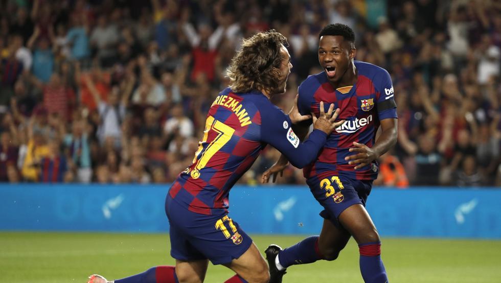 Ansu Fati ha sido elogiado por Lenglet en sus declaraciones post-partido | Imagen: Mundo Deportivo