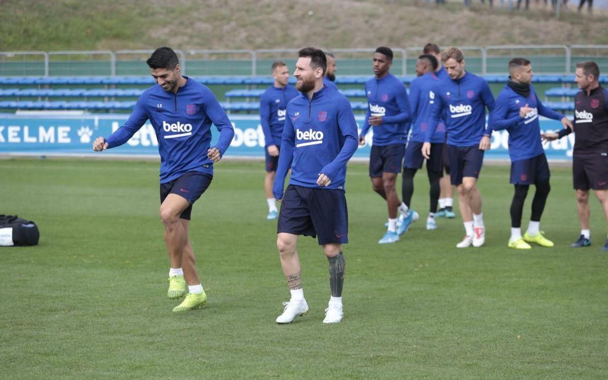 El Barça entrena en Vitoria tras el parón | Imagen: FC Barcelona