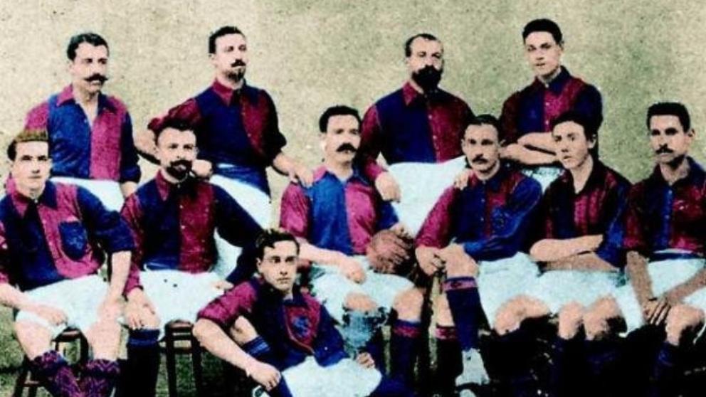 El FC Barcelona en 1902 | Imagen via La Vanguardia