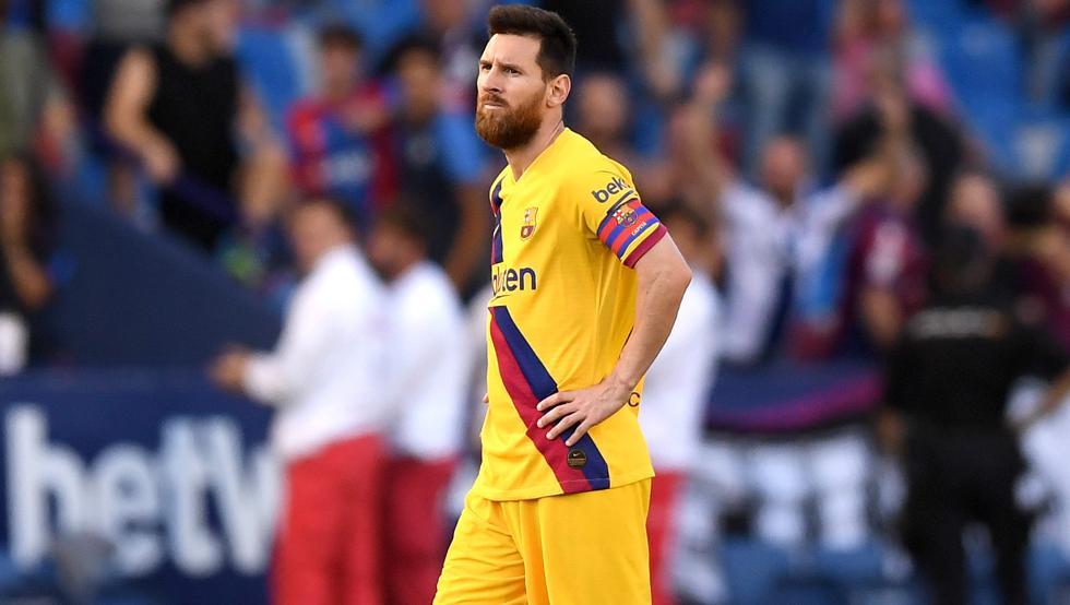 Messi, resignado tras los goles del Levante | Imagen: Mundo Deportivo