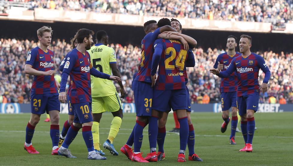 Júnior sirvió el segundo gol a Sergi Roberto | Imagen vía Mundo Deportivo