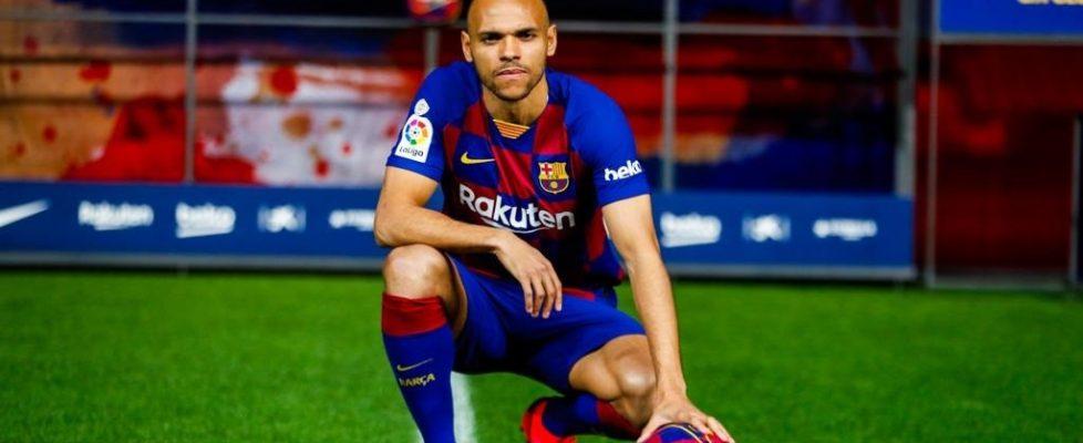 """Fútbol.- Braithwaite: """"He estudiado el juego del Barça para estar en el sitio que toca"""""""