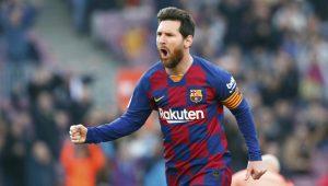 Leo Messi hace un póker contra el Éibar.