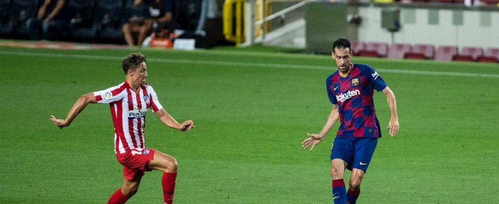 Sergio Busquets durante el partido.