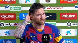 Leo Messi tras el partido.