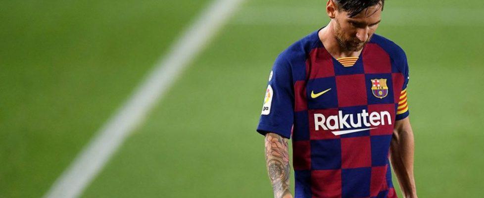 Leo Messi durante el encuentro.