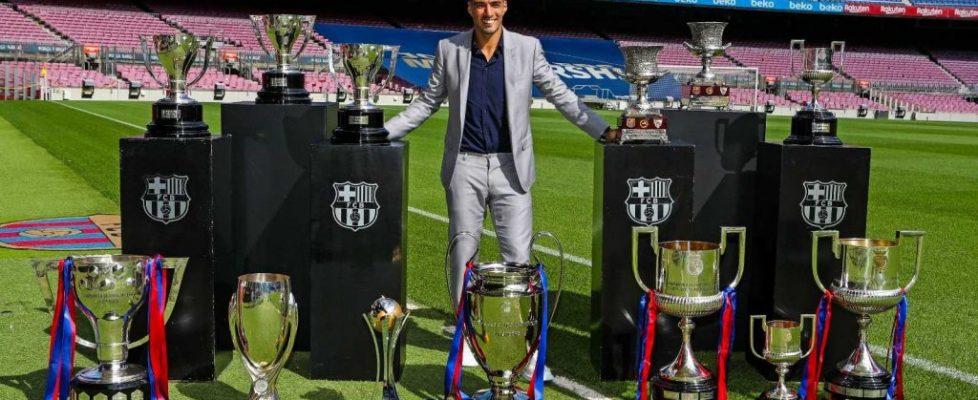 Luis Suárez con los trofeos conseguidos. Fuente: rtve.es