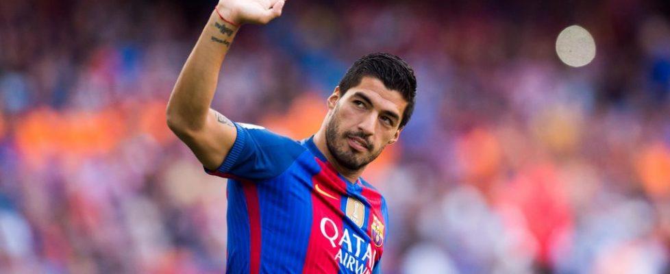 Suárez se despide del Barça. Fuente: Telemundo Deportes