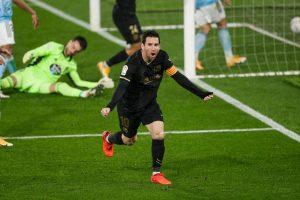 Leo Messi contra el Celta de Vigo. Fuente: Getty Images
