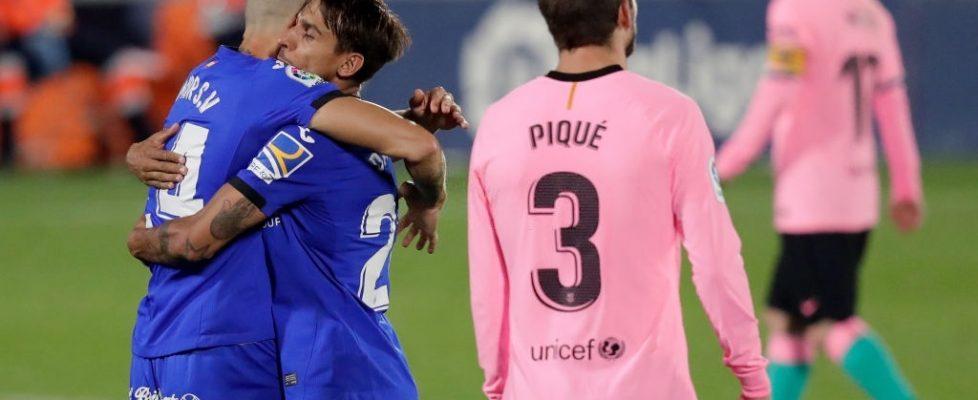 Derrota del Barça ante el Getafe. Fuente: Getty Images