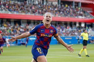 Alexia celebrando un gol. Fuente: Getty Images