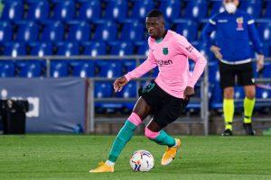 Ousmane Dembelé contra el Getafe. Fuente: Getty Images