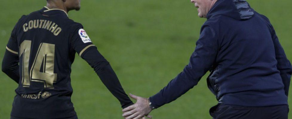 Ronald Koeman y Coutinho. Fuente: El Desmarque