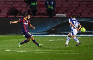 Jordi Alba consigue empatar el partido. Fuente: Getty Images