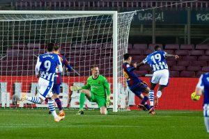 Pedri salva el empate de la Real Sociedad. Fuente: Getty Images