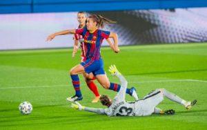 Patri Guijarro contra el Atlético de Madrid. Fuente: twitter