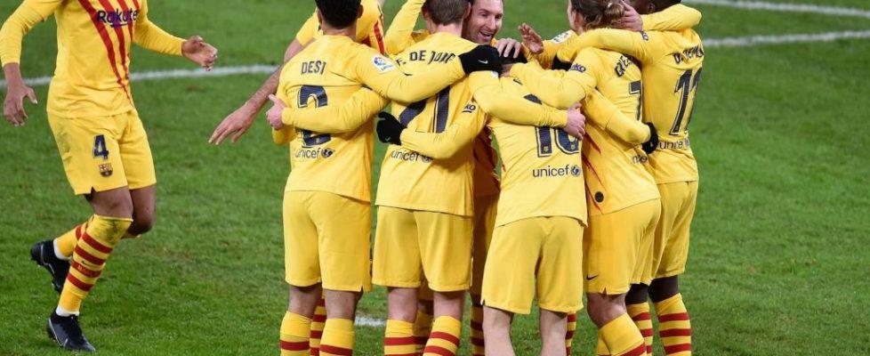 El Barça celebra un gol contra el Athletic de Bilbao. Fuente: Getty Images