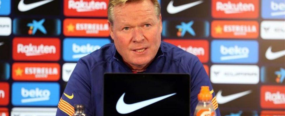 Koeman durante la rueda de prensa. Fuente: sport