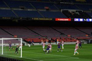 Jugada colectiva que le sirve al Barça para anotar el segundo gol. Fuente: Getty Images