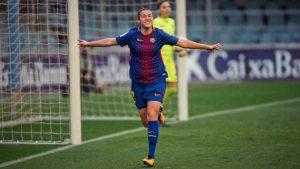 Patri Guijarro celebrando un gol. Fuente: twitter