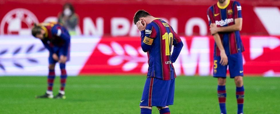 El Barça paga caro los errores ante el Sevilla. Fuente: Getty Images