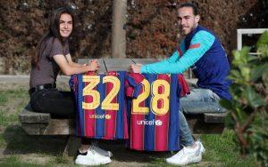 Óscar y Ari cumplen un sueño juntos. Fuente: FC Barcelona