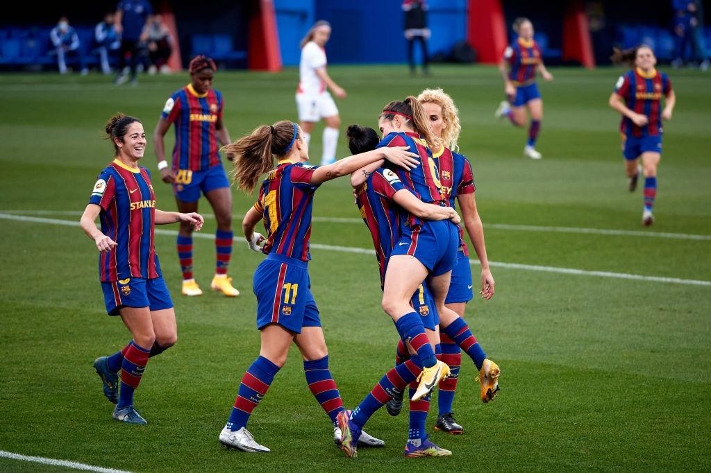 El Barça vence al Rayo Vallecano y continúa en lo alto de la Primera Iberdrola. Fuente: Getty Images