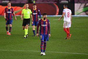 Gerard Piqué en la semifinal de la Copa del Rey. Fuente: Getty Images
