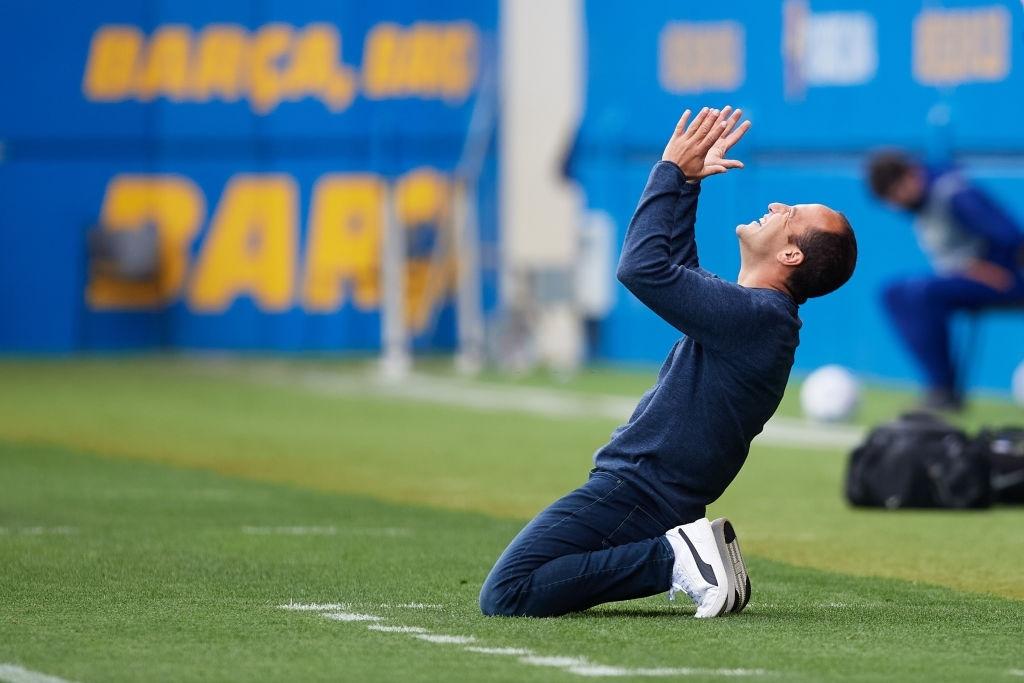 Lluís Cortés celebra el pase a la final de la Champions. Fuente: Getty Images