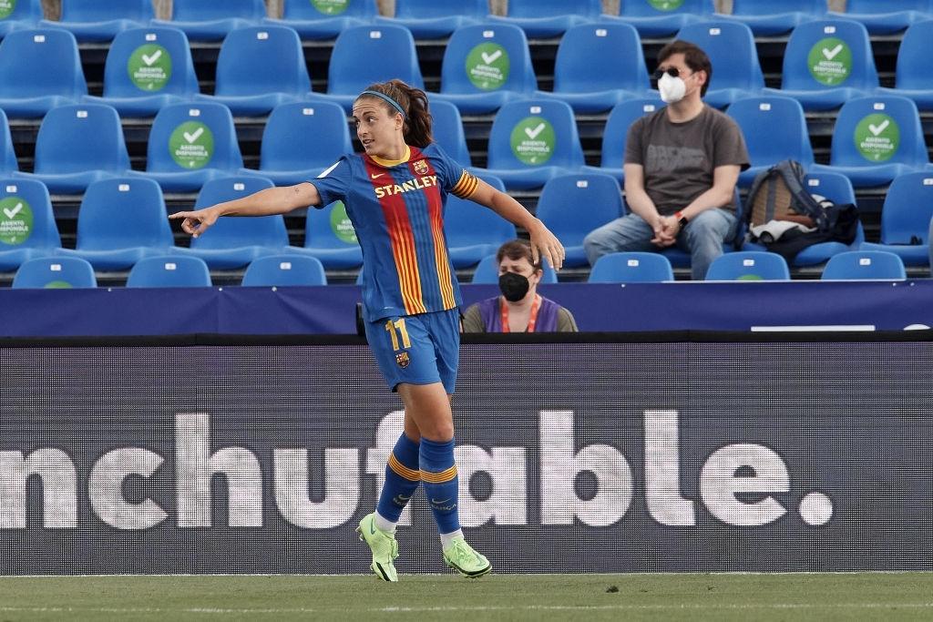 Alexia celebra el gol. Fuente: Getty Images