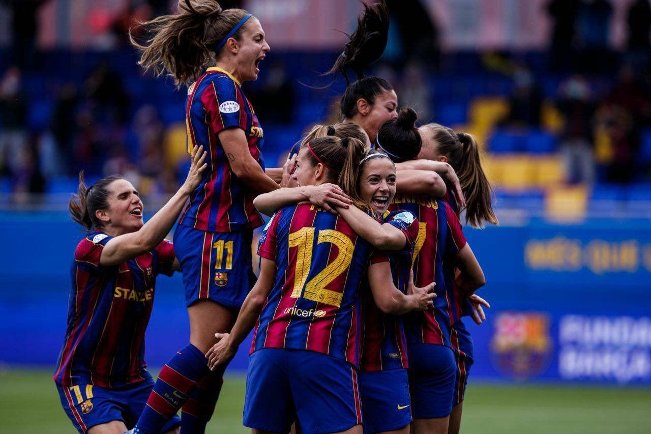 El Barça celebra el pase a la final de la Champions. Fuente: Getty Images