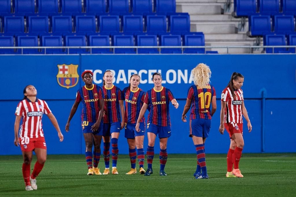 El Barça celebra un gol ante el Atlético de Madrid. Fuente: Getty Images