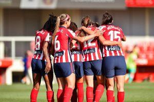 El Atlético celebra el gol de Amanda. Fuente: Atlético de Madrid