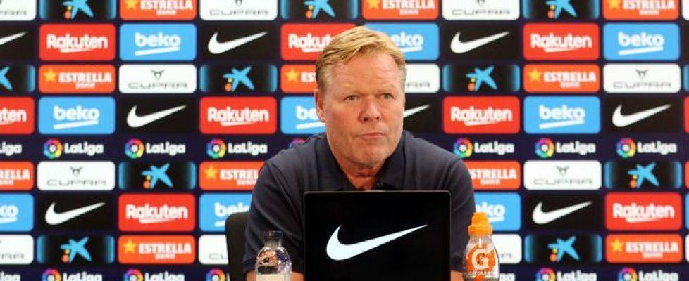 Ronald Koeman durante la rueda de prensa. Fuente: Sport