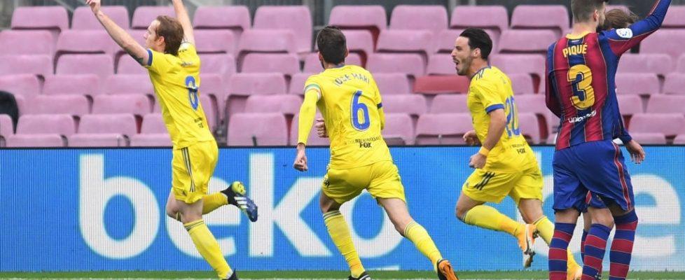 El Cádiz logró un punto en el Camp Nou. Fuente: Getty Images