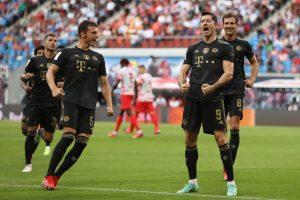 Lewandowski celebra un gol ante el Leipzig. Fuente: Getty Images