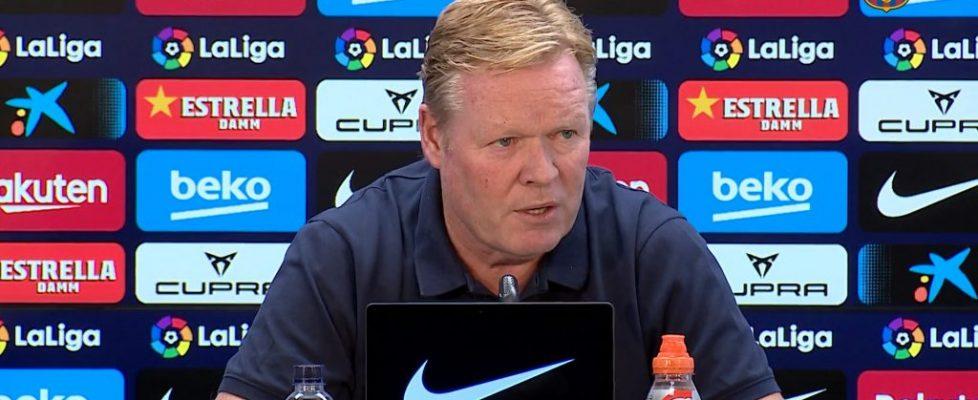 Ronald Koeman durante la rueda de prensa. Fuente: FC Barcelona
