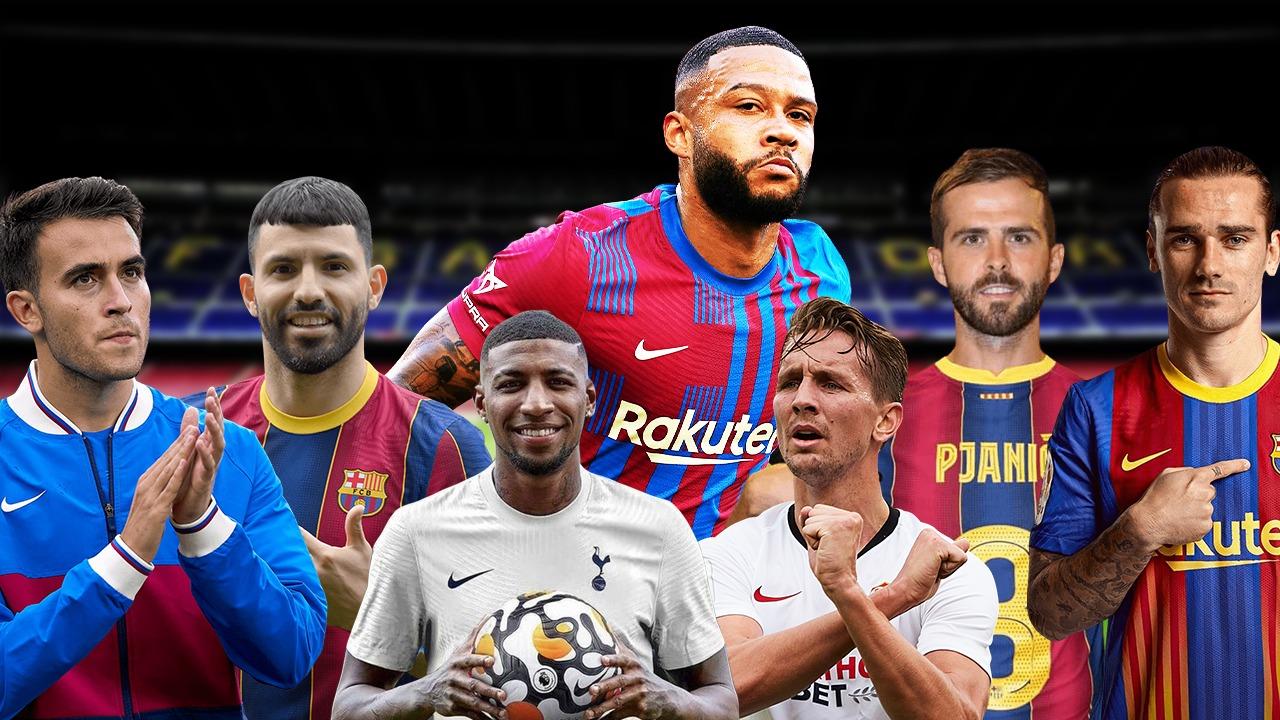 Collage fichajes Barça