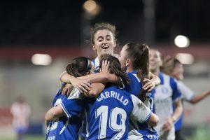 Las Gloriosas celebran un gol contra el Atlético. Fuente: Getty Images